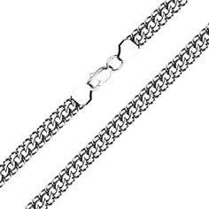 Акция на Браслет из серебра Гренада в плетении королевский бисмарк 22 размера от Zlato
