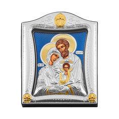 Акция на Серебряная икона Святое семейство с позолотой 000139759 от Zlato