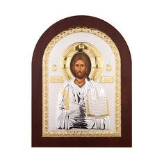 Акция на Серебряная икона Спаситель в деревянной рамке 000141198 от Zlato