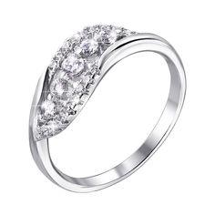 Акция на Серебряное кольцо с цирконием 000140507 16 размера от Zlato