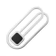Акция на Зажим для галстука из серебра с ониксом 000146407 от Zlato