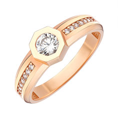 Акция на Кольцо из красного золота с фианитами 000146036 18.5 размера от Zlato