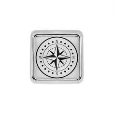 Акция на Запонки из серебра с эмалью 000146412 от Zlato