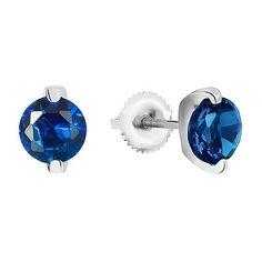 Акция на Серебряные серьги с синими фианитами 000028986 от Zlato