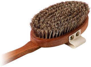 Акция на Щетка для сухого массажа Maldives Dreams из микса конского волоса и листьев агавы Премиальная (9120110810014) от Rozetka