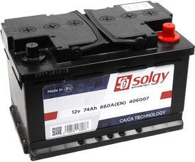 Акция на Автомобильный аккумулятор Solgy 74Ah/660A (278x175x175/+R) (406007) от Rozetka