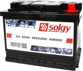 Акция на Автомобильный аккумулятор Solgy 60Ah/480A (242x175x190/+R) (406002) от Rozetka