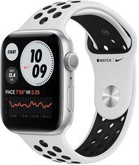 Акция на Apple Watch Series 6 Nike 44mm Gps Silver Aluminum Case with Pure Platinum/Black Nike SportBand (MG293) от Y.UA