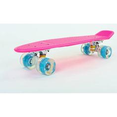Акция на Скейтборд Zelart 5672-4 (LED) розовый от Allo UA