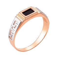 Акция на Перстень-печатка из красного золота с черным ониксом 000004101 19 размера от Zlato