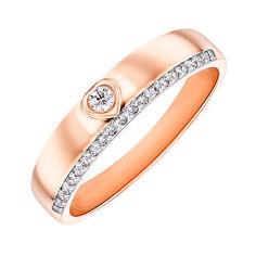 Акция на Кольцо из красного золота с бриллиантами 000145930 17 размера от Zlato