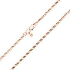 Акция на Цепочка из красного золота панцирного плетения с родированной алмазной гранью 000101569, 2мм 50 размера от Zlato
