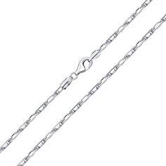 Акция на Серебряная цепь в якорном плетении 000132691 60 размера от Zlato