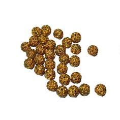 Акция на Шарики  SAS для браслетов Шамбала со стразами 10мм Желтый от Allo UA