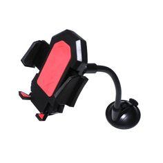 Акция на Держатель  DER для телефона автомобильный (присоска на стекло) Красный от Allo UA