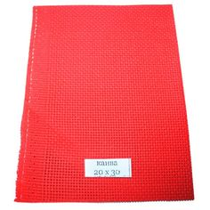 Акция на Канва  KAV вышивальная (разные цвета, 100х150, каунт 11) Красная от Allo UA