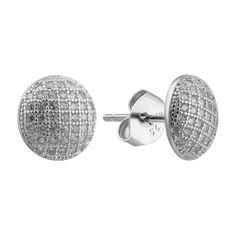 Акция на Серебряные серьги-пуссеты с фианитами 000132417 от Zlato