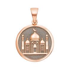 Акция на Золотой кулон Мечеть с чернением 000136390 от Zlato
