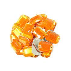 Акция на Камни  EYJ пришивные (Восьмиугольник 25х18мм) 20 шт. Оранжевый от Allo UA