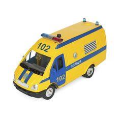 Акция на Автомодель Techno Park Газель Поліція жовта (CT-1276-17PU) от Allo UA