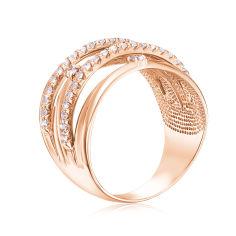 Акция на Золотое кольцо с фианитами 000104590 19 размера от Zlato
