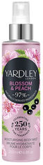 Акция на Мист увлажняющий парфюм для тела и волос Yardley Blossom & Peach Moisturising Fragrance Body Mist 200мл (5056179301511) от Rozetka