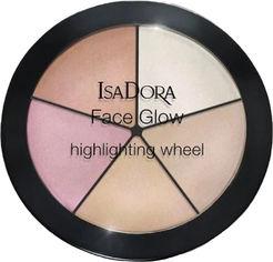 Акция на Хайлайтер для лица Isadora Face Glow Highlighting Wheel палетка 51 champagne glow 18 г (7317851187518) от Rozetka