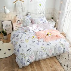 Акция на Комплект постельного белья Травы на лугу (двуспальный-евро) Berni Home Розовый (47265) от Allo UA
