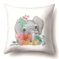 Акция на Подушка декоративная Elephant 45 х 45 см Berni Home Серый (56059) от Allo UA
