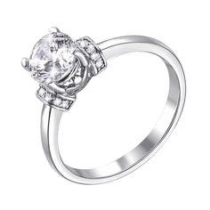 Акция на Серебряное помолвочное кольцо с фианитами 000117766 17 размера от Zlato