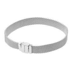 Акция на Серебряный плоский браслет для шармов в стиле Пандора, 7мм 000102760 18 размера от Zlato