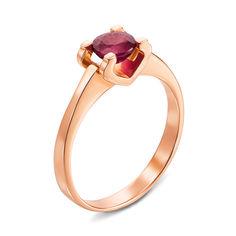 Акция на Кольцо из красного золота с рубином 000135636 16.5 размера от Zlato