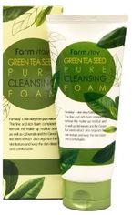 Акция на Пенка для умывания лица Farmstay Green Tea Seed Pure Cleansing Foam с зелёным чаем 180 мл (8809317286358) от Rozetka