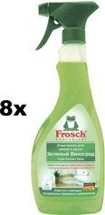 Акция на Упаковка очистителя для ванны и душа Frosch с виноградной кислотой 500 мл х 8 шт (4009175098511) от Rozetka