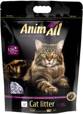 """Акция на Наполнитель для кошачьего туалета AnimAll """"Фиолетовый Аметист"""" Премиум Силикагелевый впитывающий 6.7 кг (15 л) (4820224 500621) от Rozetka"""