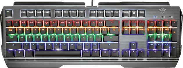 Акция на Клавиатура проводная Trust GXT877 Scarr Mechanical RU Cherry MX Red USB (TR23723) от Rozetka