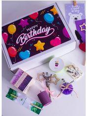 Акция на Подарочный набор Экокуб Happy Birthday Лавандовый сад от Stylus