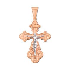Акция на Крестик Тайна исповеди в красном и белом золоте 000106297 от Zlato