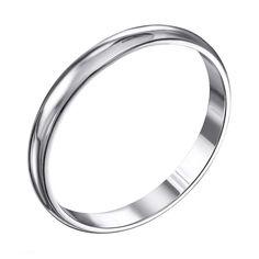 Акция на Серебряное обручальное кольцо 000119331 15 размера от Zlato