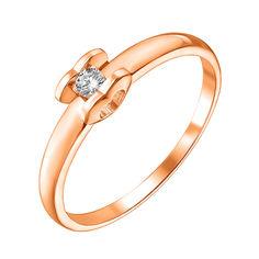 Акция на Кольцо из красного золота с бриллиантом 000135943 15.5 размера от Zlato