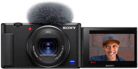 Акция на Фотоаппарат Sony Vlog Camera ZV-1 Black (ZV1B.CE3) Официальная гарантия! от Rozetka