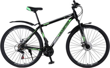 "Акция на Велосипед Champion Spark 27.5"" 19.5"" Black-green-white (27ChWS21-003240) от Rozetka"
