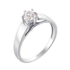 Акция на Помолвочное кольцо из белого золота с цирконием Swarovski 000126318 16.5 размера от Zlato