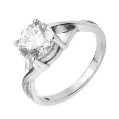 Акция на Серебряное кольцо с цирконием Swarovski 000127967 15 размера от Zlato