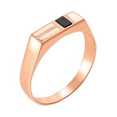 Акция на Золотое кольцо-печатка с ониксом 000055218 22 размера от Zlato