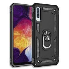 Акция на с кольцом Defender для Samsung Galaxy A30s / A50 / A50s цвет Черный (063167_1) от Allo UA