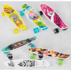 Акция на Скейт Пенни борд S 29661 Best Board, 6 видов, колёса PU, СВЕТЯТСЯ, d=4.5 см, доска=55 см от Allo UA