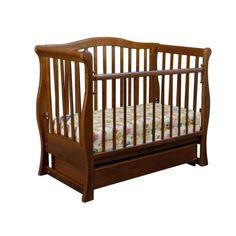 Акция на Детская кроватка «VIVA» premium - маятник. с ящиком орех от Allo UA