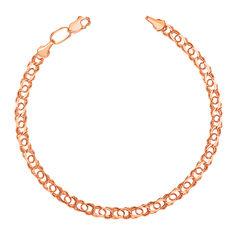 Акция на Золотой браслет плетения бисмарк 000101636 19 размера от Zlato