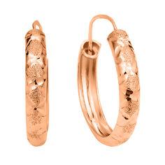 Акция на Серьги-кольца из красного золота 000106231 от Zlato